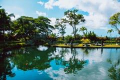 Ponte, palazzo dell'acqua Bali, Indonesia Immagine Stock