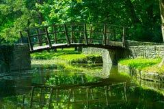 Ponte in parco Immagini Stock