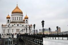 A ponte patriarcal ao templo de Cristo o salvador Imagem de Stock Royalty Free