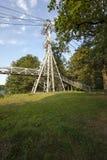 A ponte pedestre Fotografia de Stock