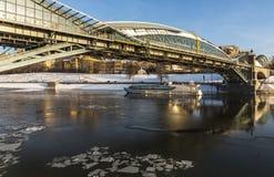 Ponte pedestre Bogdan Khmelnitsky Fotos de Stock