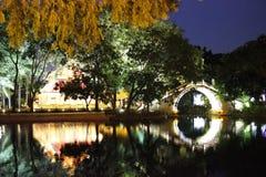 Ponte pedestre chinesa Fotografia de Stock Royalty Free