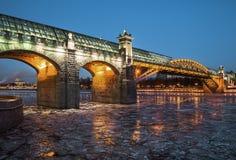 Ponte pedestre de Pushkin (St Andrew) Imagens de Stock Royalty Free