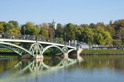 Ponte pedestre em Tsaritsyno, Moscou fotos de stock