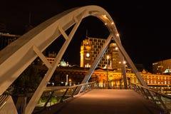 A ponte pedestre Melbourne Foto de Stock Royalty Free