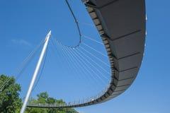 Ponte pedestre no porto em Sassnitz Fotografia de Stock