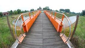 Ponte pedonale Fotografia Stock