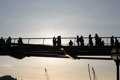 Ponte pedonale Immagine Stock