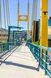 Ponte pedonale Fotografie Stock Libere da Diritti