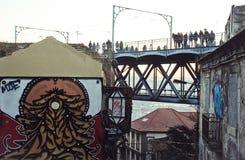 Ponte pedonale Immagine Stock Libera da Diritti