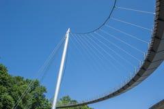 Ponte pedonale al porto in Sassnitz immagini stock