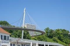 Ponte pedonale al porto in Sassnitz fotografie stock