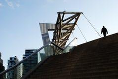 Ponte pedonale all'area del codice a barre a Oslo Immagine Stock Libera da Diritti