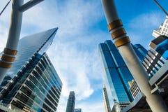 Ponte pedonale del cielo moderno a Bangkok Fotografia Stock Libera da Diritti