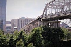Ponte pedonale della via di Nashville Fotografia Stock Libera da Diritti