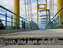 Ponte pedonale di Kamloops, BC, il Canada Immagini Stock