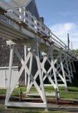 Ponte pedonale nel distretto storico di Siasconset su Nantucket fotografia stock