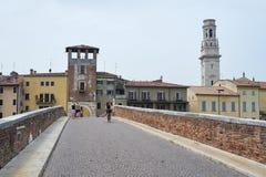 Ponte Pietra Fotografering för Bildbyråer