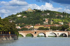 Ponte Pietra and Adige River - Verona Italy Royalty Free Stock Photo