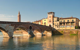 Ponte Pietra bridge, Verona, Italy Stock Photography