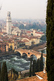 Ponte Pietra in the old town of Verona Royalty Free Stock Photos