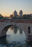 Ponte Pietra and the River Adige, Italy, Europe Royalty Free Stock Photography