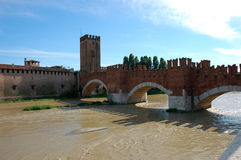 Ponte Pietra - Verona, Italy. Royalty Free Stock Images