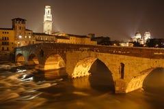 Ponte Pietra in Verona, Italy Stock Photos