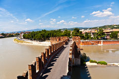 Ponte Pietra in Verona, Italy Stock Photos