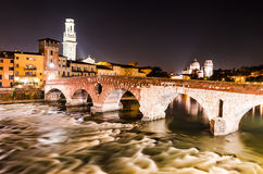 Ponte Pietra in Verona, Italy Royalty Free Stock Photography