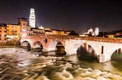 Ponte Pietra in Verona, Italy royalty free stock photography