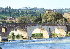 Ponte Pietra in Verona Royalty Free Stock Photos