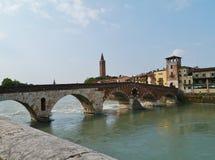 Ponte Pietre most w Verona w Włochy Zdjęcie Stock