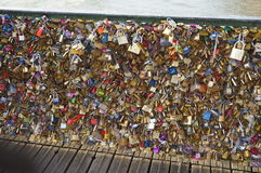 Ponte Pont des Arts a Parigi Immagini Stock