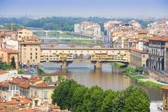 Ponte Ponte Vecchio em Florença, Italy Fotografia de Stock