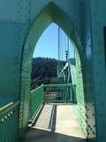 Ponte Portland Oregon de St Johns Imagens de Stock Royalty Free