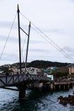 Ponte in porto Immagini Stock Libere da Diritti