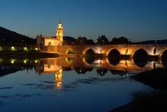 ponte portugal för de lima för bro kyrklig Fotografering för Bildbyråer