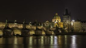 Ponte Praga de Charles imagens de stock
