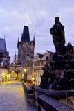 Ponte Praga de Charles imagem de stock
