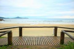 Ponte & praia Fotografia de Stock