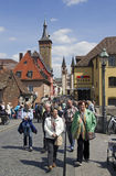 Ponte principal velha Wurzburg, Alemanha foto de stock royalty free