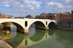 Ponte Principe Amedeo Savoia Aosta, bridge across the Tiber in Rome Royalty Free Stock Photos