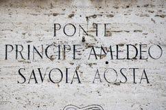 Ponte Principe Amedeo Savoia Aosta in Rome Stock Image