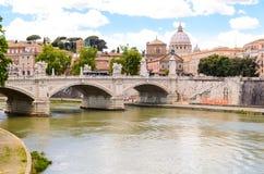 Ponte Principe Amedeo and St. Peter's basilica Stock Photos