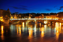Ponte Prinicipe Amedeo Savoia Aosta, Rome. The Ponte Prinicipe Amedeo Savoia Aosta in Rome, Italy. The bridge connects Vatican City and Trastevere to the old Royalty Free Stock Photo