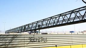 Ponte provvisorio sugli impianti del viale del treno ad alta velocità Immagine Stock Libera da Diritti