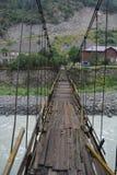 Ponte provvisto di cardini Fotografia Stock Libera da Diritti
