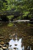 Ponte que cruza o rio dourado Imagens de Stock Royalty Free