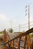 Ponte quebrada. Imagem de Stock